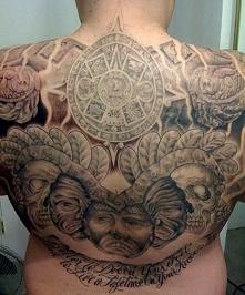 aztecki tatuaż