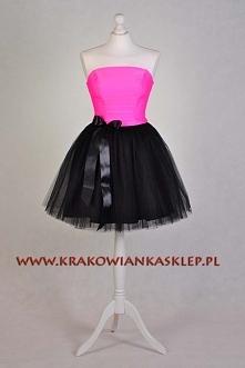 tiulowa sukienka  krakowianka   sklep