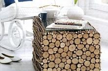 Naturalny i ekologiczny stolik ;)