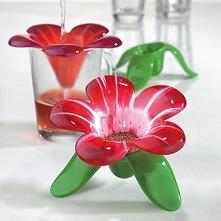 Zaparzacz do herbaty plastikowy KOZIOL AUDREY FLOWER CZERWONY