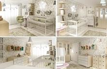 Wnętrze pokoju dla malutkiego dziecka