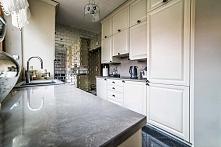 Aranżacja wnętrza pięknej, stylowej kuchni z ciekawymi dodatkami wg projektu ...