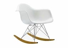 Opcja dla wygodnych:) Designerski bujany fotel na drewnianych płozach.