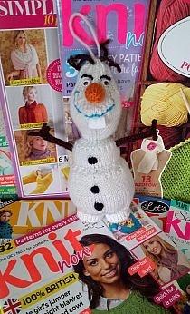 Olaf wykonany na drutach. Po więcej zdjęć zapraszam na moją nowo powstałą stronę na fb Robótki ręczne Manci