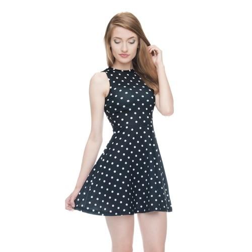 Sukienka Rozkloszowana Dots