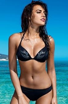 Lorin L1006/6V1 kostium kąpielowy Szalenie kobiecy dwuczęściowy kostium, miseczki wykonane z pianki, ozdobione pięknymi cekinami