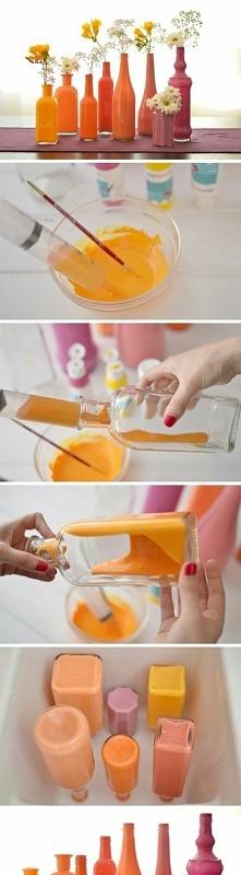 jak zrobić kolorowy wazon