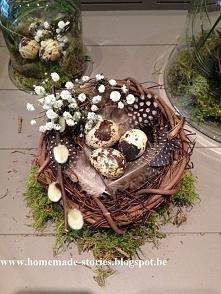 Wielkanocne stroiki już gotowe! Więcej zdjęć i krok po kroku jak takie zrobić u mnie na blogu! homemade-stories.blogspot.be
