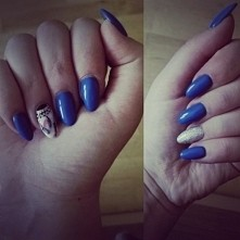 #new #nails #blue #and #white #holoeffect #łapaczsnów