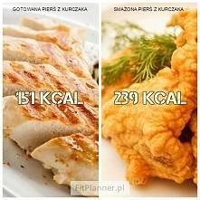 Gotowany kurczak VS Smażony...