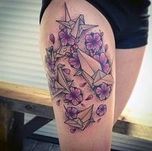 tatuaże damskie origami