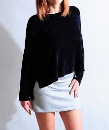 Cienki, asymetryczny sweterek oversize, 3 kolory