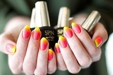 Sezon na neony!!! Naturalne paznokcie + lakiery hybrydowe SPN Nails  Bails by...