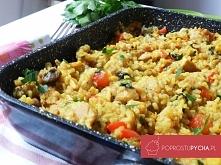 Fit risotto z kurczakiem!!! :) pomysł na lżejszy obiad <3