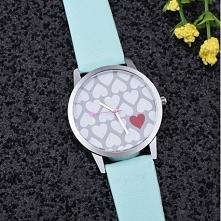 Zegarek serduszkowa tarcza - mięta - 22,99zł - klik w zdjecie