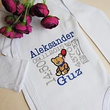 Body niemowlęce z haftowaną...