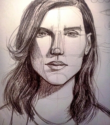 Portret kredką. Więcej moich prac na instagramie i FB .ZAPRASZAM