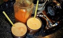 Świeży sok wolnowyciskany w Oscar DA-1000! Pomarańcza + jabłko + imbir
