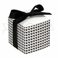 Pudełko PEPITKA z kokardą. Podziękowania dla gości, pudełeczko na cukierki. N...