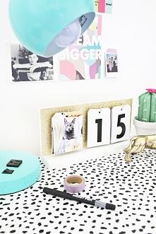 kalendarz na biurko <3 diy