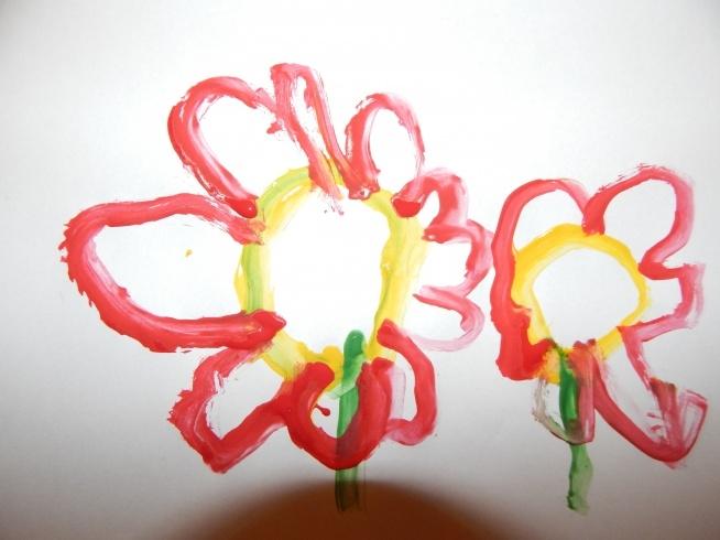 malowane dziecięcą rączką