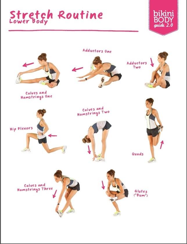 stretching lower body- dolna część ciała