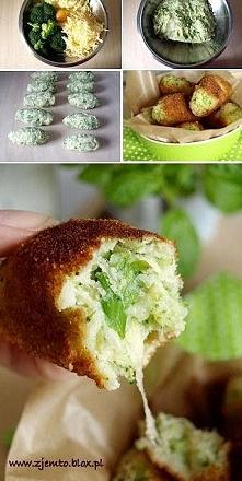 Krokiety brokułowo-serowe. ...