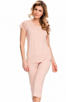Dobranocka PW.9045 piżama Świetny dwuczęściowy komplet, bluzka z krótkim ręka...