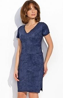 Numinou NU21 sukienka granatowa Rewelacyjna sukienka, dopasowany fason, z przodu kieszenie