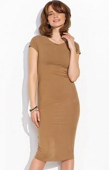 Numinou NU18 sukienka karmelowa Kobieca i elegancka sukienka, dopasowany fason, pięknie podkreśla kobiecą sylwetkę