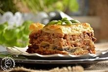 Lasagne z warstwą pieczarek