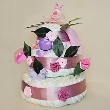 """Tort pieluszkowy """"Róży..."""