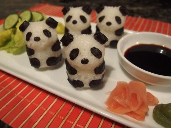 Sushi w kształcie pandy :)