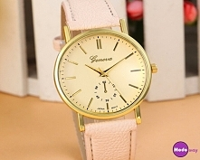 Piękny klasyczny beżowy zegarek <3  Ten i wiele innych modeli dostępnych p...