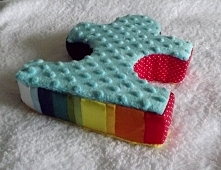 Puzzle sensoryczne. Mięciutka poduszka dla dzieci.