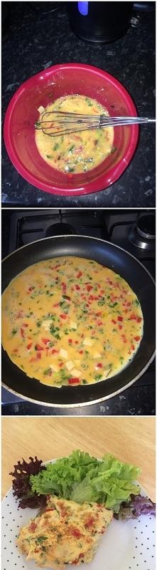 Omlet z warzywami serem odt...