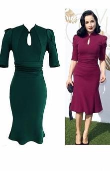 Sukienka w stylu Dita Von Teese, zielona