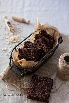 czekoladowe batony owsiane