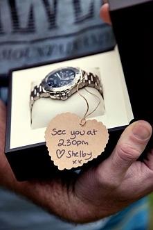 prezent dla przyszłego (spóźnialskiego) męża :D