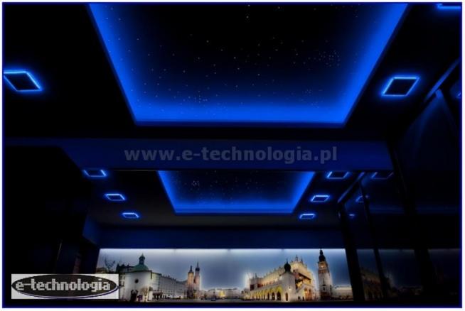 Oświetlenie sypialni - oświetlenie sypialni galeria - oświetlenie sypialni LED - oświetlenie sypialni na poddaszu - oświetlenie sypialni aranżacje - gwiezdne niebo w sypialni - gwieździste niebo w sypialni  e-technologia.pl