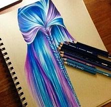 Te kolorowe włosy ♥ ♥  Ochh...