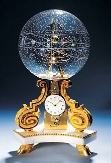 Table Clock With Planetarium made in 1770 in Paris, France, photo via Gary Constantine