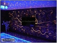 Oświetlenie ściany e-technologia to pomysł na dekoracje ścienne oraz oświetle...