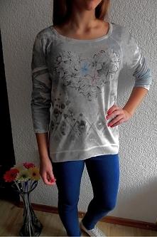zwiewna szaro błękitna bluzeczka  z cyrkoniami 59 zł rozmiar M  zapraszamy na...