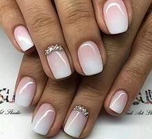 Nails - ombre hybryda