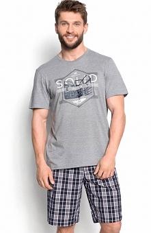 Henderson Duke 34271-90X piżama Dwuczęściowa piżama męska, bluzka z krótkim r...