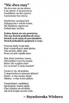 Wisława Szymborska Inspiracje Tablica Arbuzowyarbuz88 Na