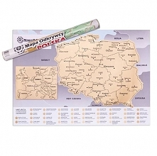 Mapa odkrywcy Polska polecamy na prezent dla niej.