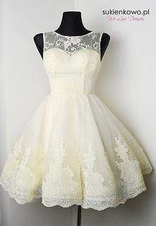 sukienka z koronką lux