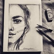 Kolejny portrecik ,a raczej pół. Ołówek. Zapraszam do siebie na instagram i fb . Klik w zdjęcie